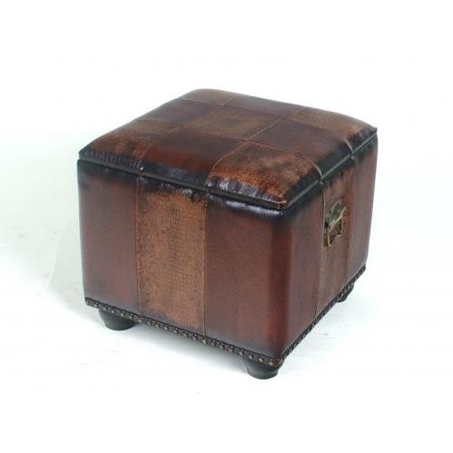 International Caravan Square Ottoman Box - Mix Pattern - YWLF-2188-MX
