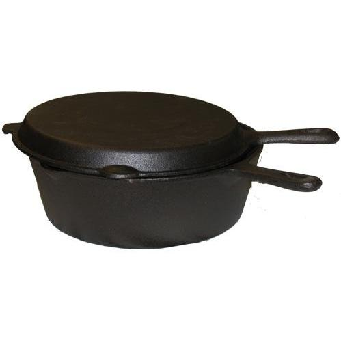 Cajun Cookware Seasoned Cast Iron Combo Cooker 6 QT