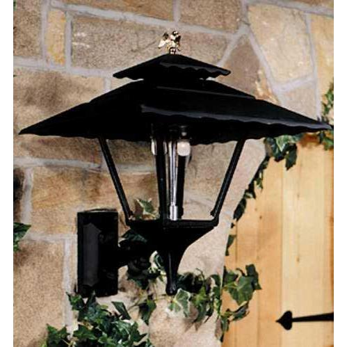 Gaslite America GL1800 Cast Aluminum Manual Ignition Natural Gas Light With Dual Mantle Burner And Standard Wall Mount
