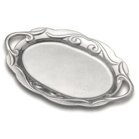 Wilton Armetale Scroll Large Oval Tray W/Handles