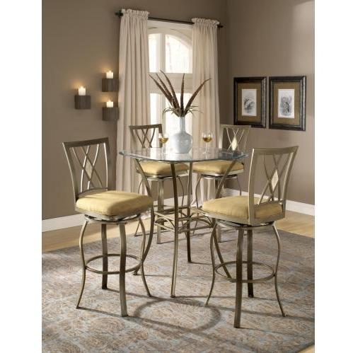 Hillsdale Brookside 3 Piece Bar Height Bistro Table Set With Brookside Diamond Stools - 4815PTBSDM3