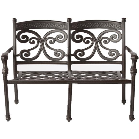 Alfresco Home Farfalla Deep Seating Love Seat Frame - Antique Wine