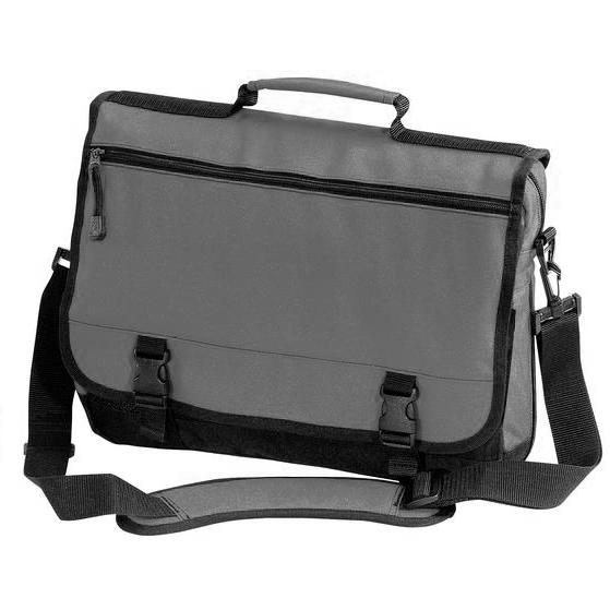 Port & Company Basic Expandable Briefcase - Deep Smoke