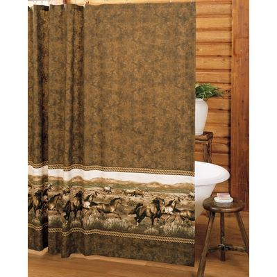 Blue Ridge Trading Wild Horses Shower Curtain And Liner