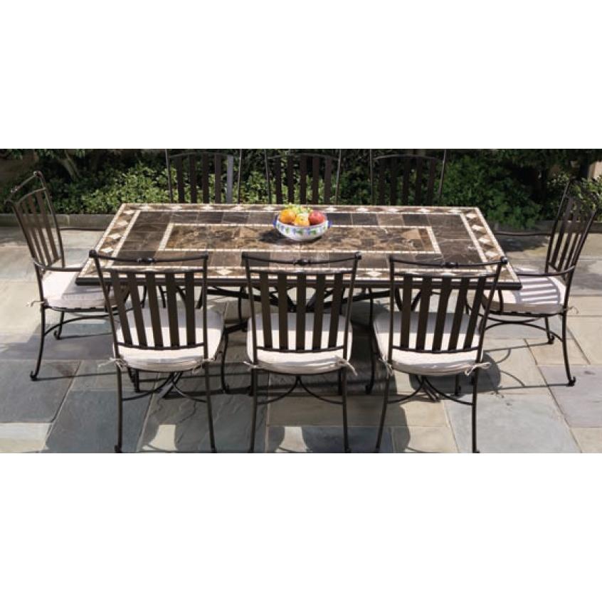 Alfresco Home Galileo 84 Inch Rectangular Dining Set