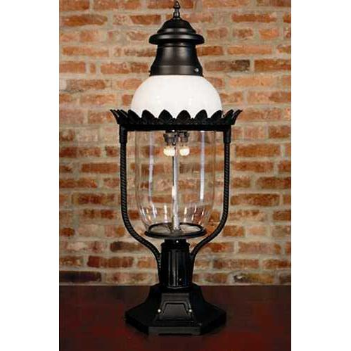 Gaslite America GL48 Cast Aluminum Manual Ignition Natural Gas Light With Triple Mantle Burner With Pedestal Mount
