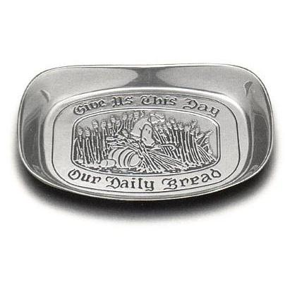 Wilton Armetale Give Us This Day Small Bread Tray