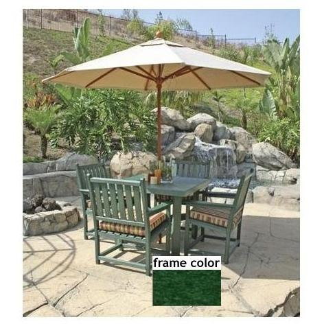 Eagle One Recycled Plastic Carmel Patio Dining Se - Green