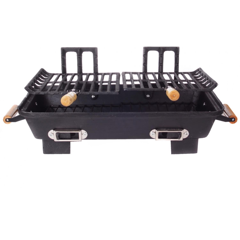 Cast Iron Hibachi Charcoal BBQ Grill