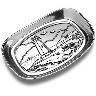 Wilton Armetale Lighthouse Bread Tray/Polished/bx - 424544