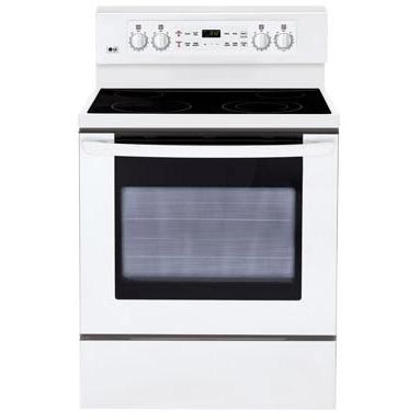LG Ranges LRE3091SW 30 Inch Freestanding Electric Range - White