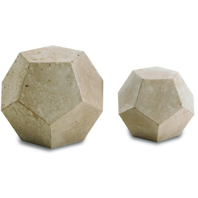 Peterson Gas Logs Decorative Geo Shapes Ivory Dome Set - Set Of 4