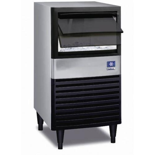Manitowoc QM-45A 30 Lb Capacity Under-Counter Commerical Ice Machine - Black Door / Stainless Steel Cabinet