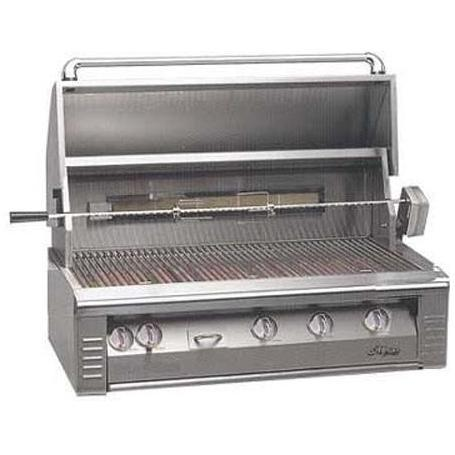 Alfresco AGBQ Classic 42 Inch Natural Gas Grill Built In With Rotisserie