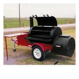 Horizon Smokers 30 Inch Single Door Trailer Smoker Grill