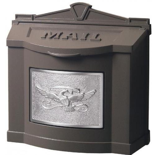Wall Mount Series Mailbox W/ Eagle Accent - Bronze W/ Satin Nickel