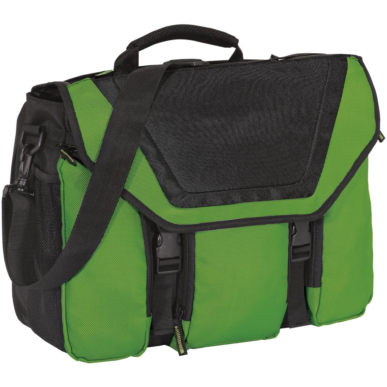 Port Authority Messenger Briefcase - Cactus/Black