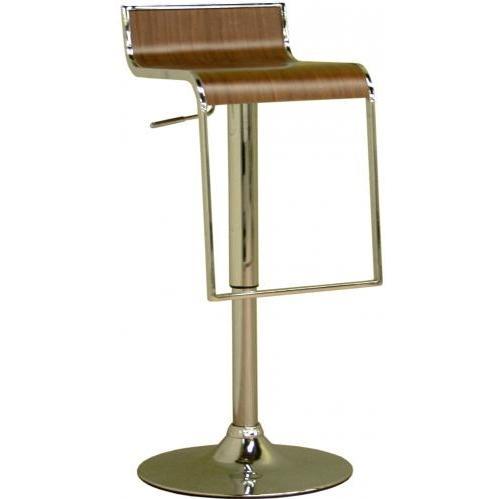 Telyn Low-back Adjustable Swivel Barstool In Walnut