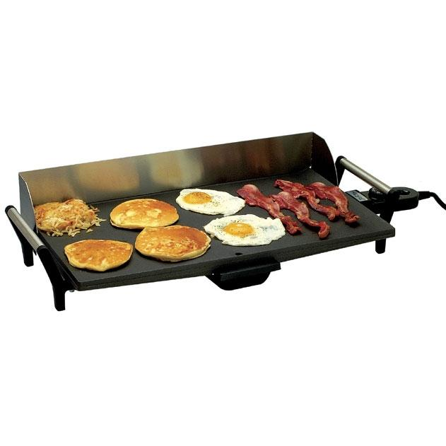 Broilking Model PCG-10 Professional Griddle - Stainless Handles And Backsplash