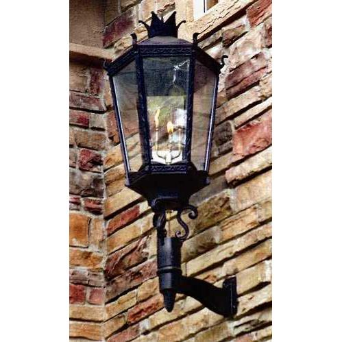 Gaslite America GL9000 Cast Aluminum Manual Ignition Natural Gas Light With Open Flame Burner And Standard Wall Mount