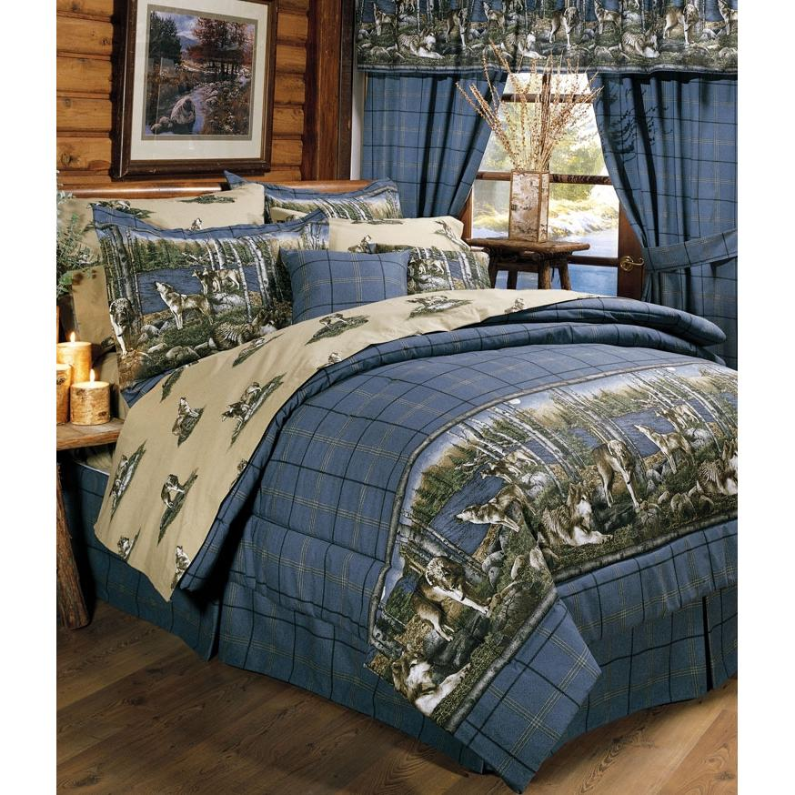 Blue Ridge Trading Wolf Pack Throw Pillow