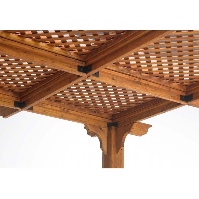 Outdoor GreatRoom Company Lattice Roof For Sierra 10 X 10 Pergola - Redwood Finish