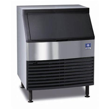 Manitowoc QD-0272A 120 Lb Capacity Under-Counter Ice Machine - Black Door / Stainless Steel Cabinet