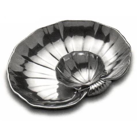 Wilton Armetale Shell Large Sauce/Hors Doeuvre Server