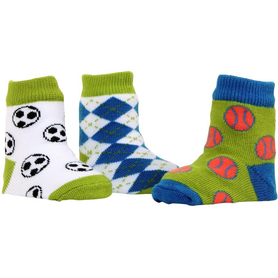 Elegant Baby Organic 3-Pair Sock Set - Jr Varsity