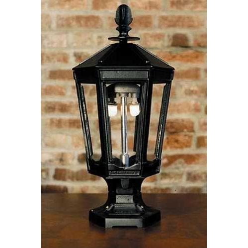 Gaslite America GL1000 Cast Aluminum Manual Ignition Natural Gas Light With Open Flame Burner And Pedestal Mount