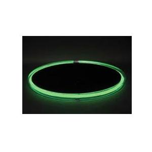 Neon Concepts 15 Inch Round Clear Top Serving Tray (Green Neon / Disposable Battery)