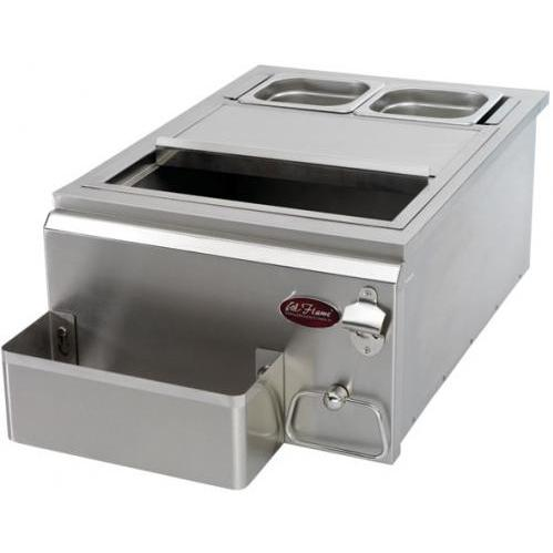 Cal Flame 18 Inch Built-in Cocktail Center With Ice Bin Cooler
