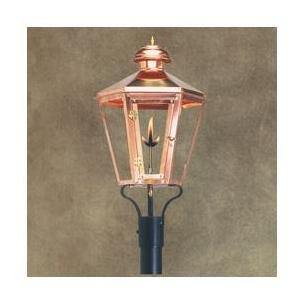 Legendary Lighting Apollo 1 Copper Natural Gas Light With Post Bracket And Electronic Ignition