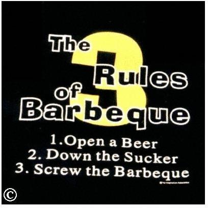 3 Rules Of Barbeque Apron