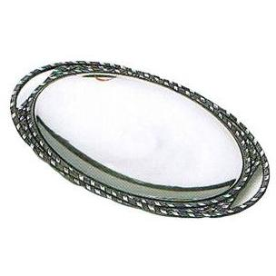Wilton Armetale Sweetgrass Large Oval Tray