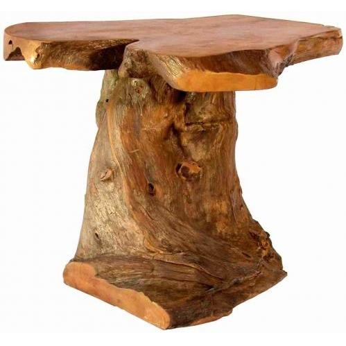 Groovy Stuff Bighorn Teak Wood Root End Table - TF-795