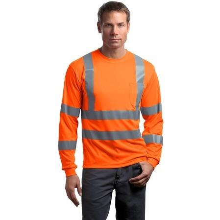 CornerStone ANSI Class 3 Long Sleeve Snag-Resistant Reflective T-Shirt 2XL - Safety Orange