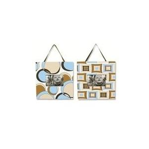 Trend Lab 2-Piece Photo Frame Set - Bubbles Teal