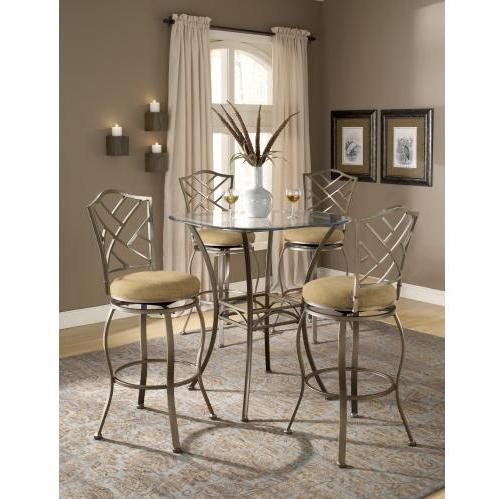 Hillsdale Brookside 3 Piece Bar Height Bistro Table Set With Hanover Stools - 4815PTBSHR3