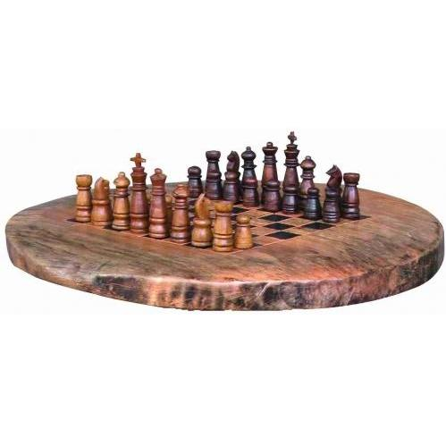 Groovy Stuff Small Teak Wood Chess Set - Board Not Included - W-871-S