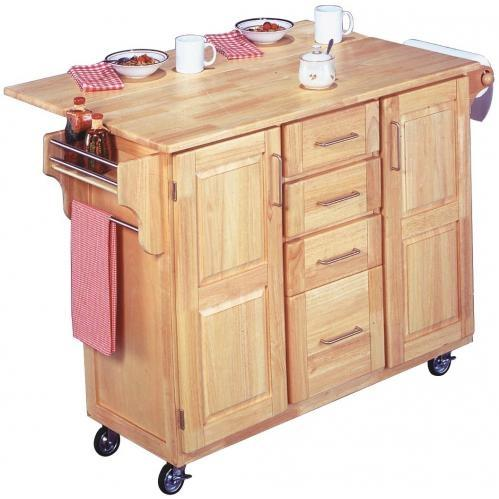 Home Styles Kitchen Center With Breakfast Bar - Natural - 5089-95