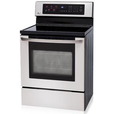 LG Ranges LRE30453ST 30 Inch Freestanding With Convection Oven Electric Range - Stainless Steel