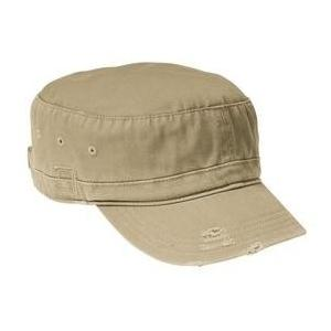 District Threads Distressed Military Hat - Khaki