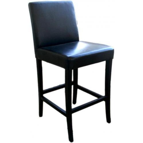 Quinn Leather Barstool In Black