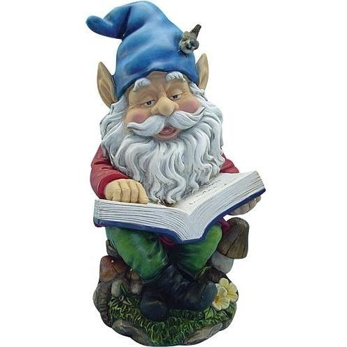 Alpine Gnome Reading Book Statuary