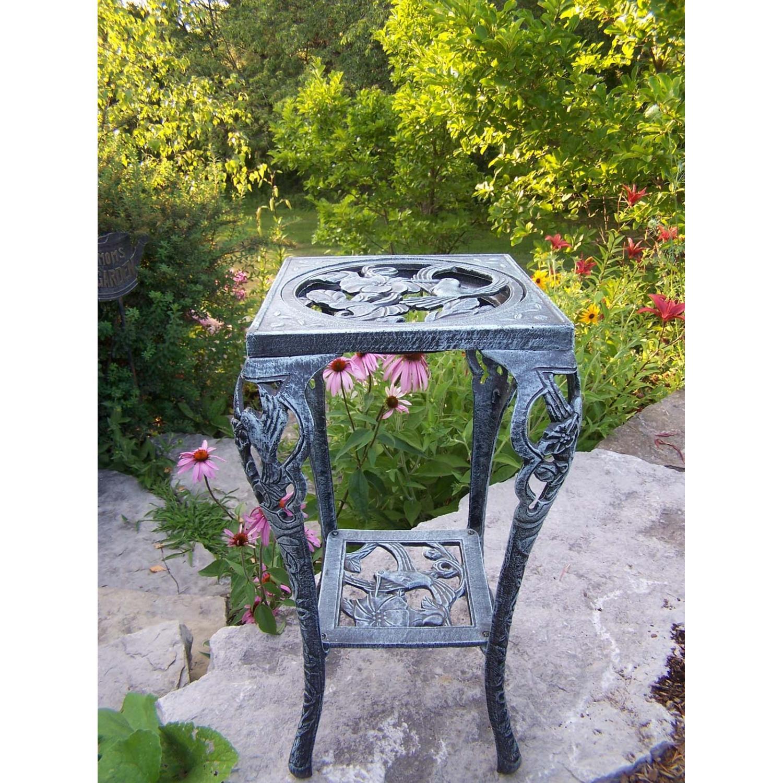 Oakland Living Hummingbird Table Plant Stand - Verdi Grey