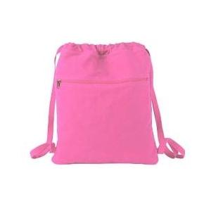 Authentic Pigment Pigment-Dyed Canvas Cinch Sack - Flamingo