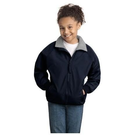 Port Authority Youth Challenger Jacket Large - True Navy/Grey Heather