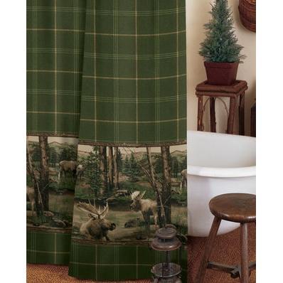 Blue Ridge Trading Moose Mountain Shower Curtain