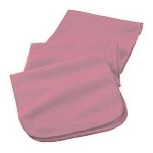 Augusta Full Length Athletic Fleece Scarf - Light Pink